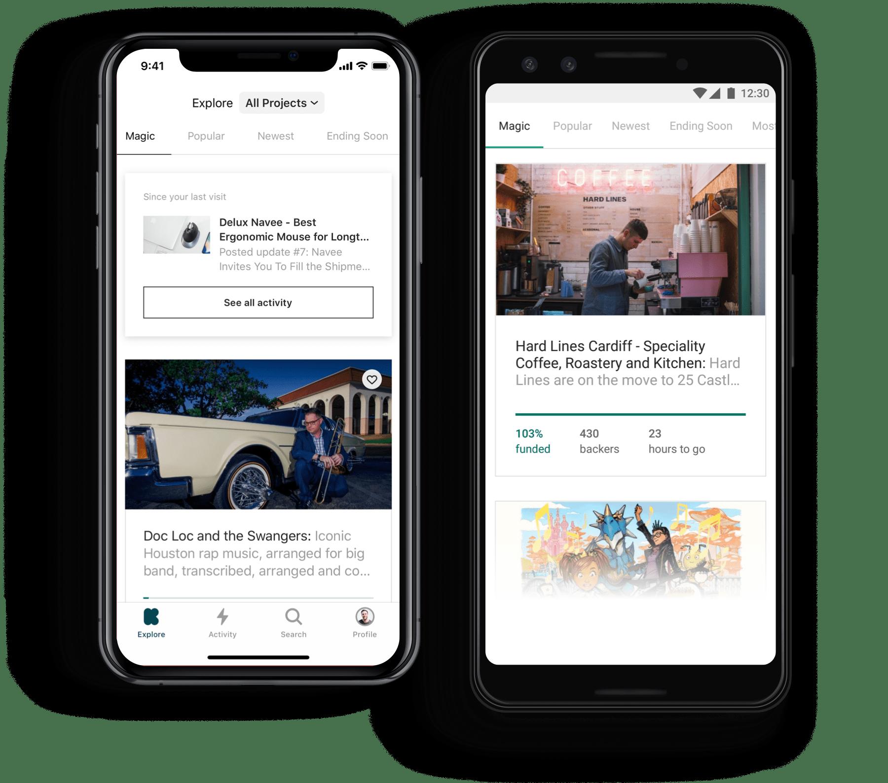 Kickstarter mobile